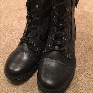 Guess black above ankle boot